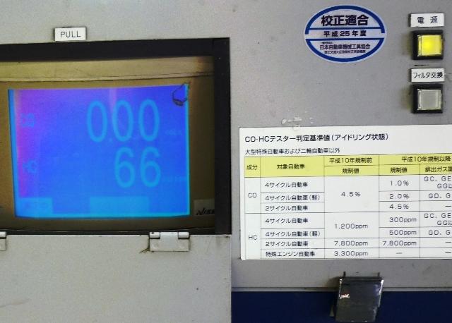 車検場の排ガステスターが証明しました